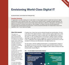 Envisioning World-Class Digital IT