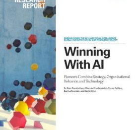 Winning With AI – Pioneers Combine Strategy, Organizational Behavior, and Technology