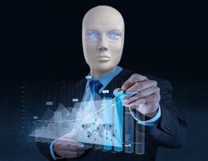 humanoid robot writes chart