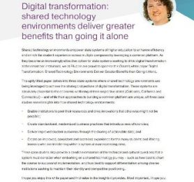 Digital transformation – Shared technology environments deliver greater benefits than going it alone