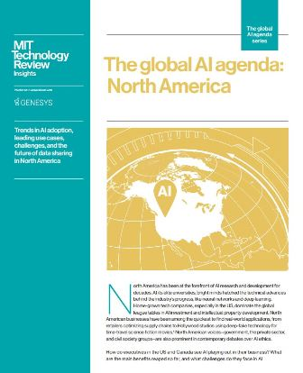 The global AI agenda - North America-Report