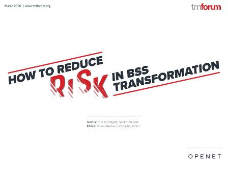 WP Openet TMF Reducing Risk in BSS Transformation-Report
