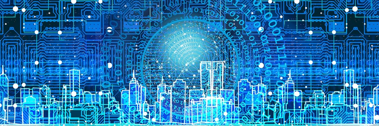 data science shown through smart city graphic