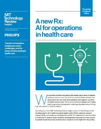 A new Rx - AI for operations in health care-Report